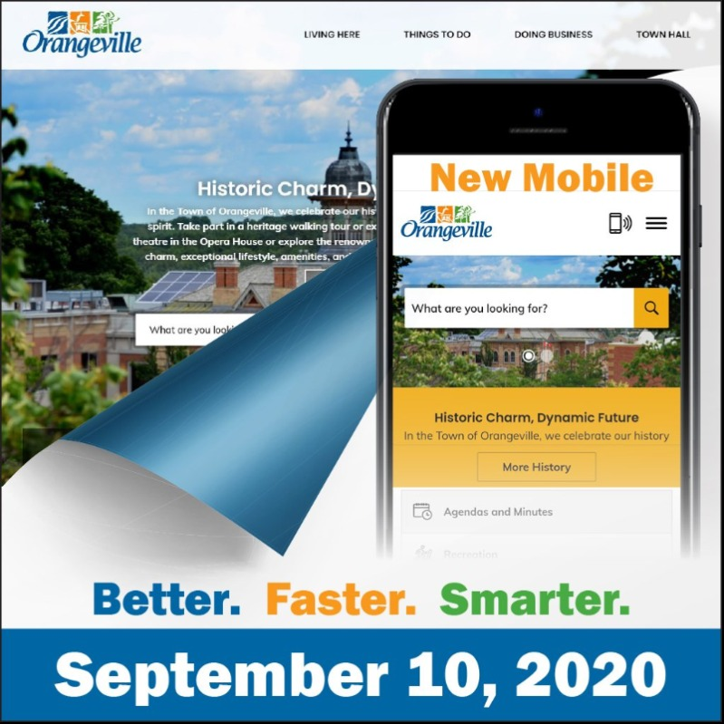 Orangeville's new website and app