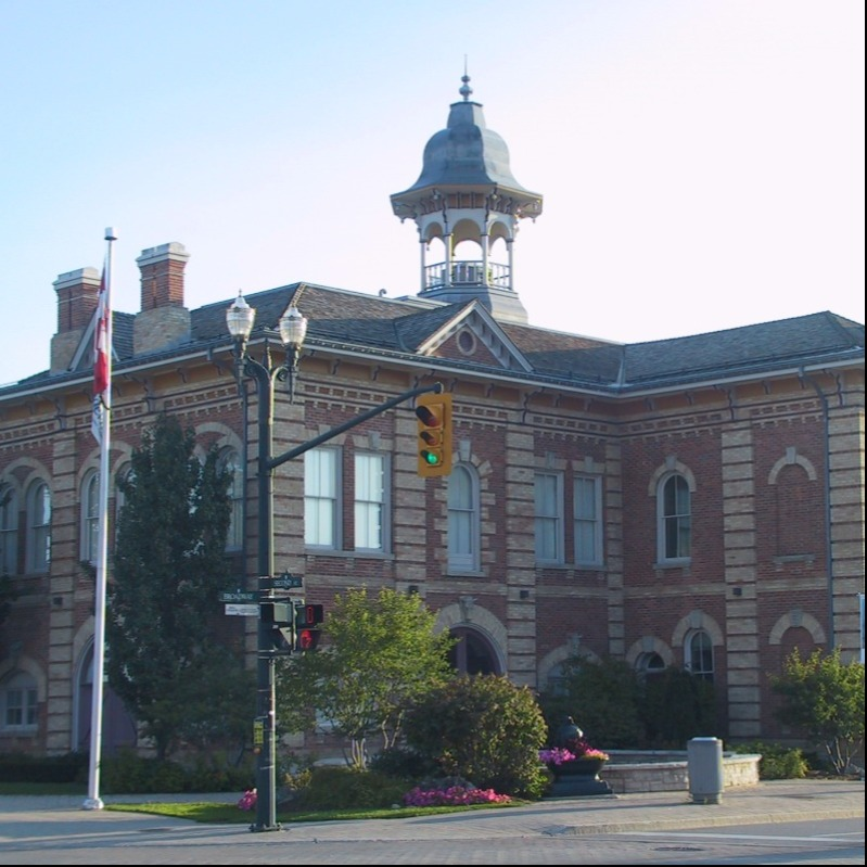 front of Town Hall