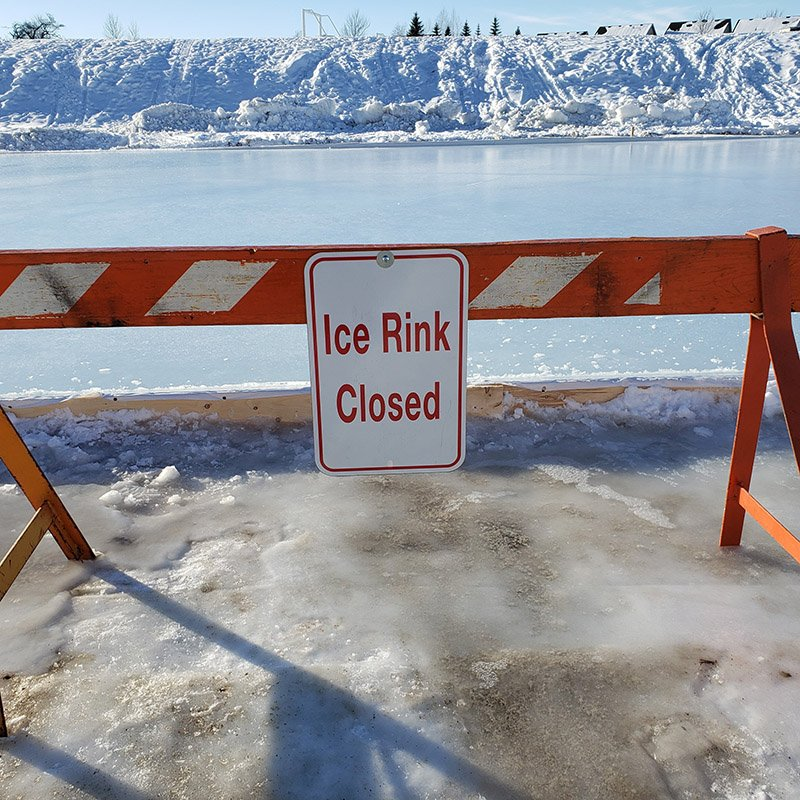 outdoor rink closed